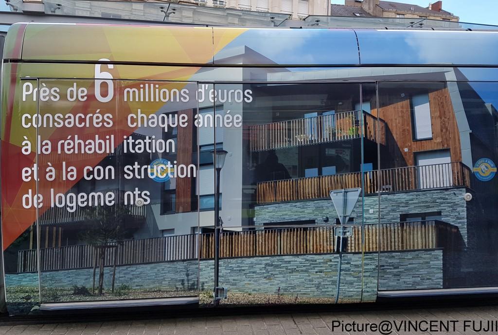 毎年600万ユーロ(約8億円)の予算で、自治体も住宅の建設、リノベーションを行っています。(アンジェ市の2015年度予算、約350億円)