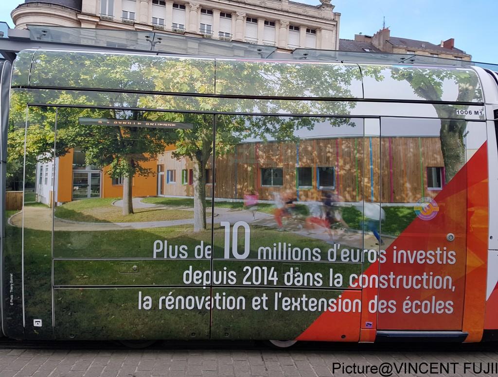 2014年から毎年、1000万ユーロ(約13億5千円)の予算で、学校の建設、リノベーション、増築にあたっています。(フランスでは自治体が、幼稚園と小学校の管轄にあたる。ここでの学校には、県の管轄下にある中学校や、州政府の管轄下にある高校は含まれない)