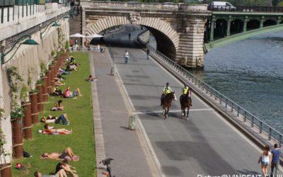 6月のパリ・自治体が管理する都市空間と道路高度利用