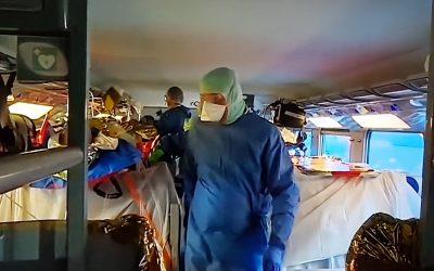 TGVをコロナ重症患者搬送輸送機関として利用