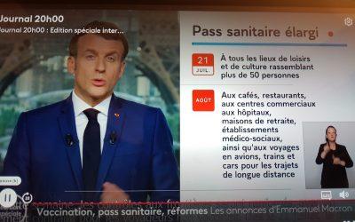 フランスで、ワクチンパスポートの義務化に!。飲食店、公共交通利用対象